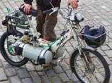 Изобретен мотоцикл, работающий только на сжатом воздухе