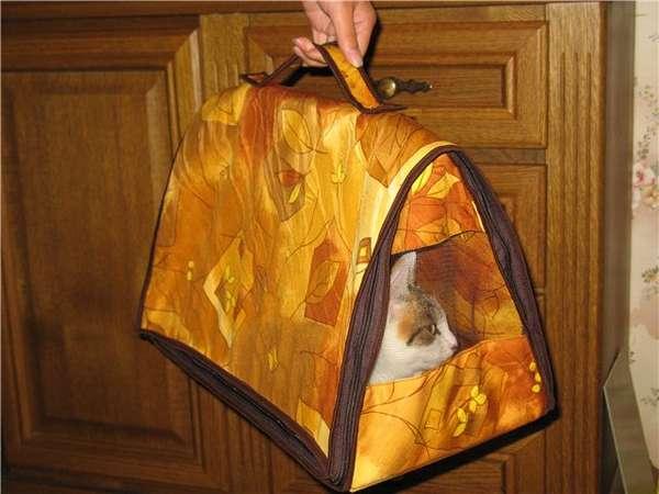 Сшить сумку-переноску для кошек своими руками