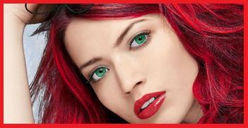 Макияж к огненно красным волосам