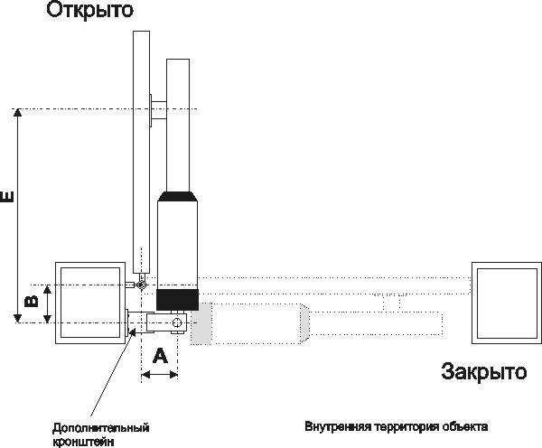 Схема установки привода: