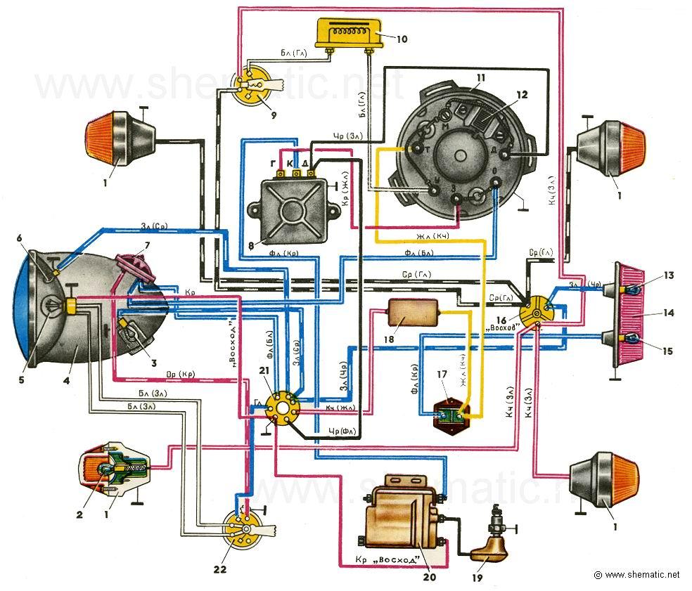 схемы проводки китайских мотоциклов