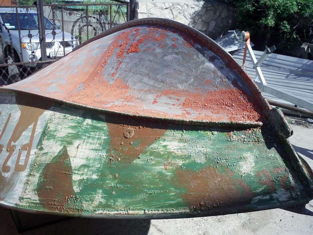 как очистить дюралевую лодку от старой краски