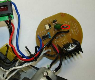 электрическая схема фена