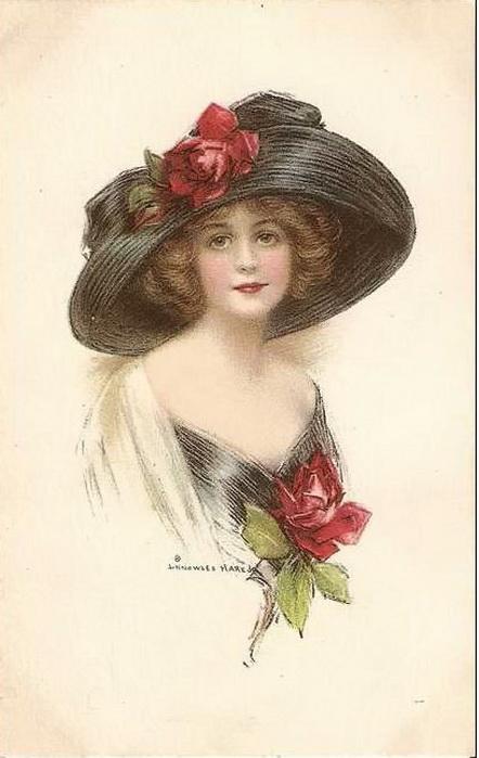 Старинные открытки для женщин