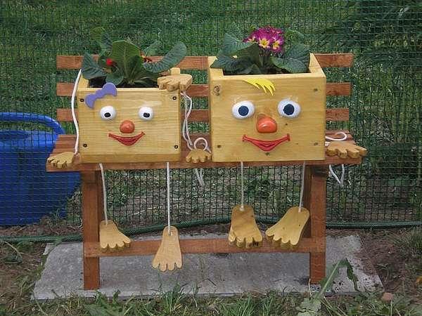 Сделай сам своими руками поделки для сада