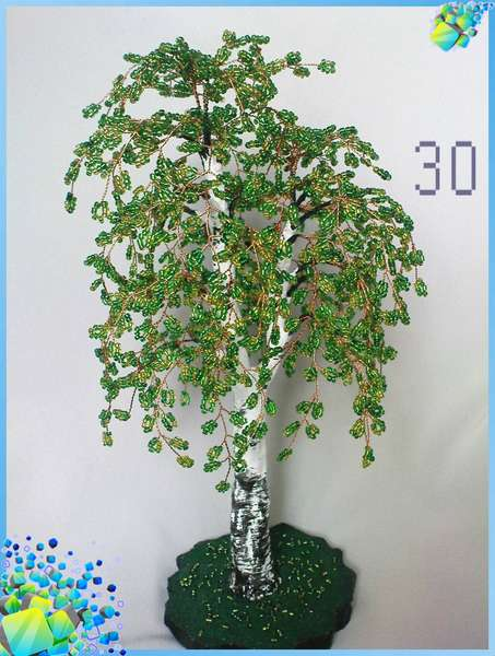 Бисер зеленого цвета – 4-5