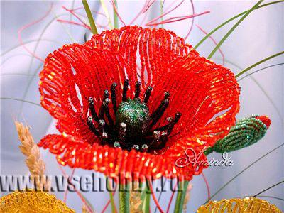 Для каждого цветка плетем по 4