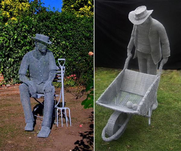 Как своими руками сделать садовую скульптуру 10