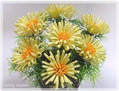 Цветы гофрированной бумаги своими руками пошаговое фото
