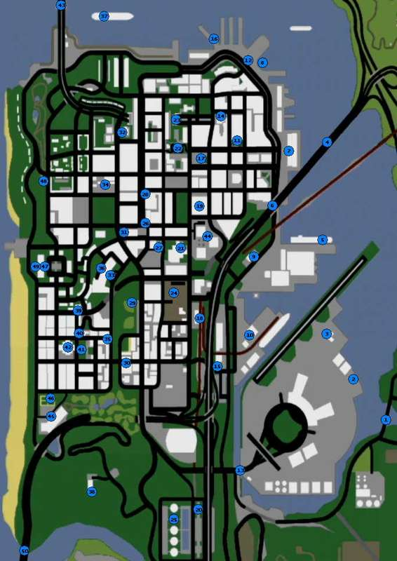 карта фотографий в gta san andreas
