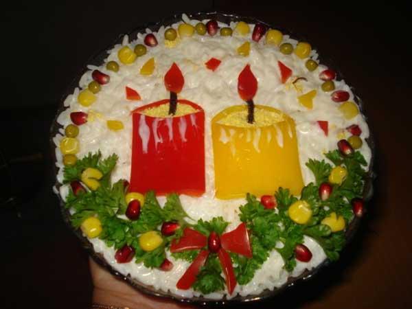 Украшение новогоднего торта с фото