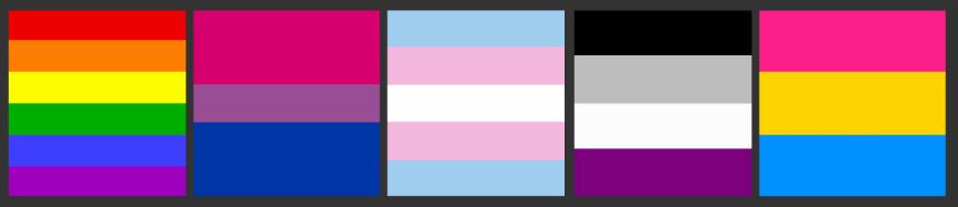 Цвета бисексуального флага