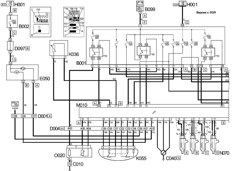 электросхема сигнала фиат дукато клуб
