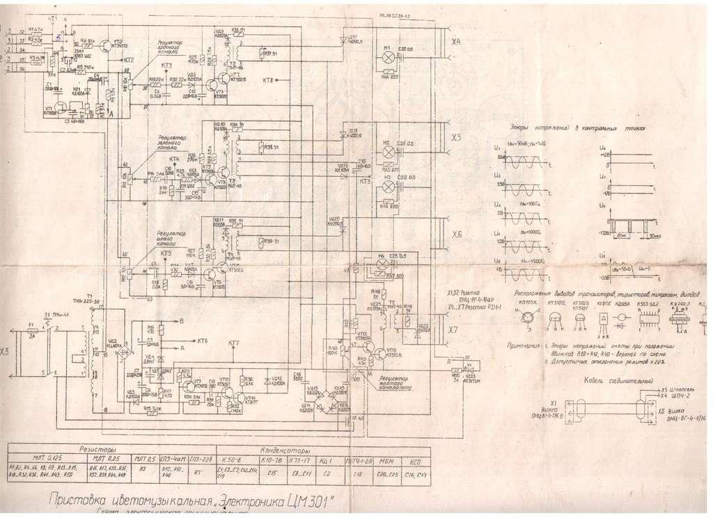 Есть схема ЦМ 301,не подойдёт?