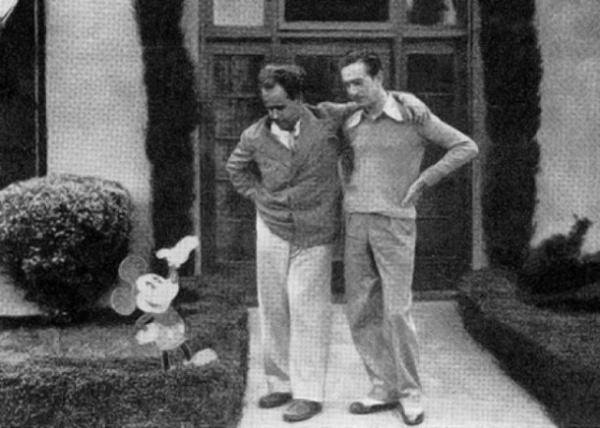 Сергей Эйзенштейн и Уолт Дисней. 1930