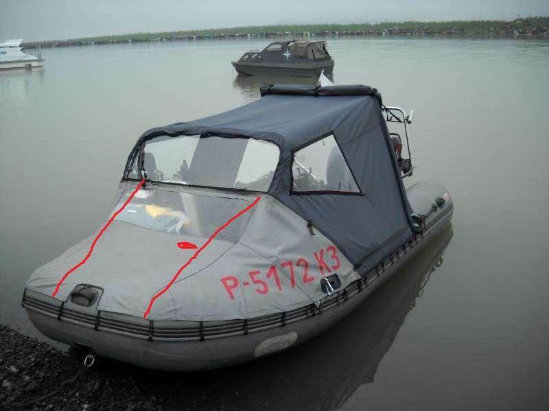 Носовой тент на лодку пвх своими руками