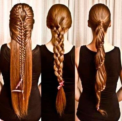 Косички для длинных волос плести