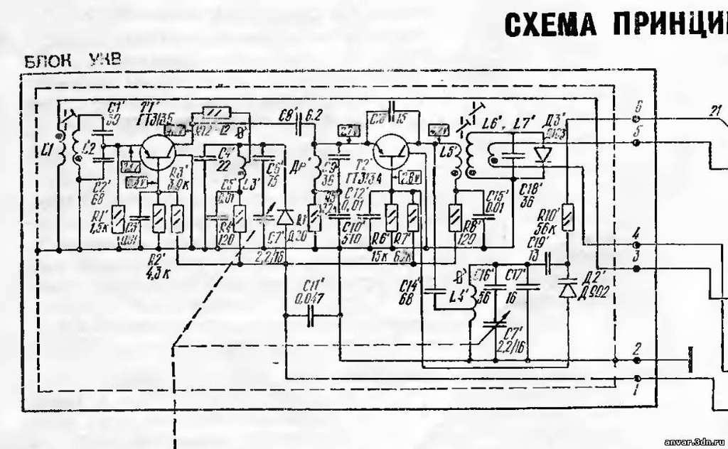Радиоприемник океан 222. схема