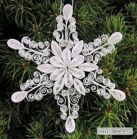 Снежинки своими руками квиллинг снежинки