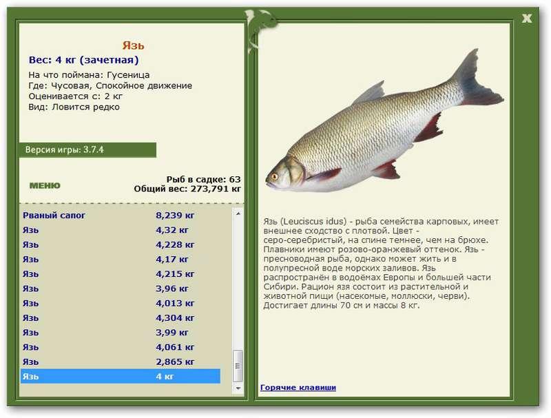 рыбалка 3 что ловится на урал
