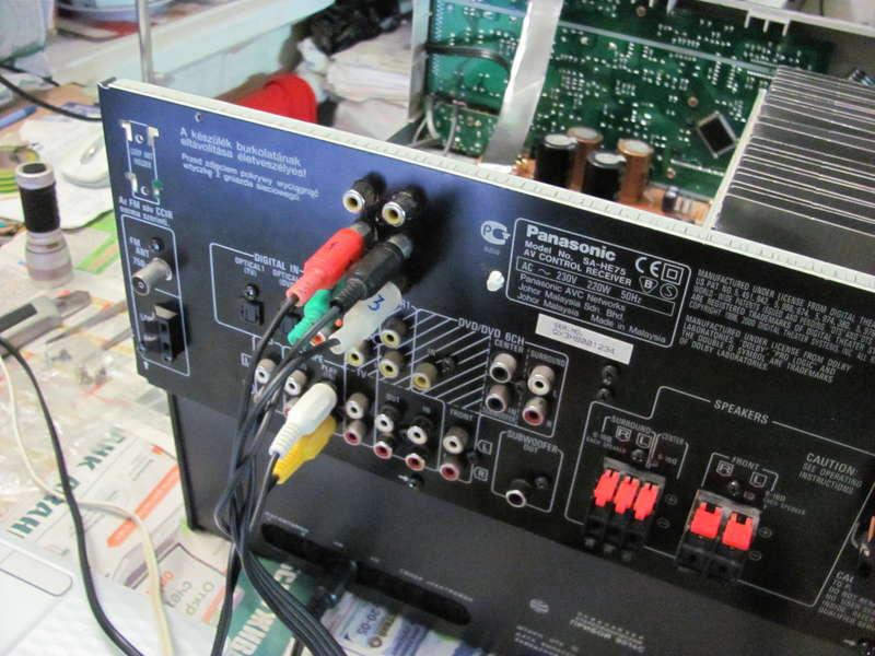AV-ресивер panasonic sa-he75 нужна помощь