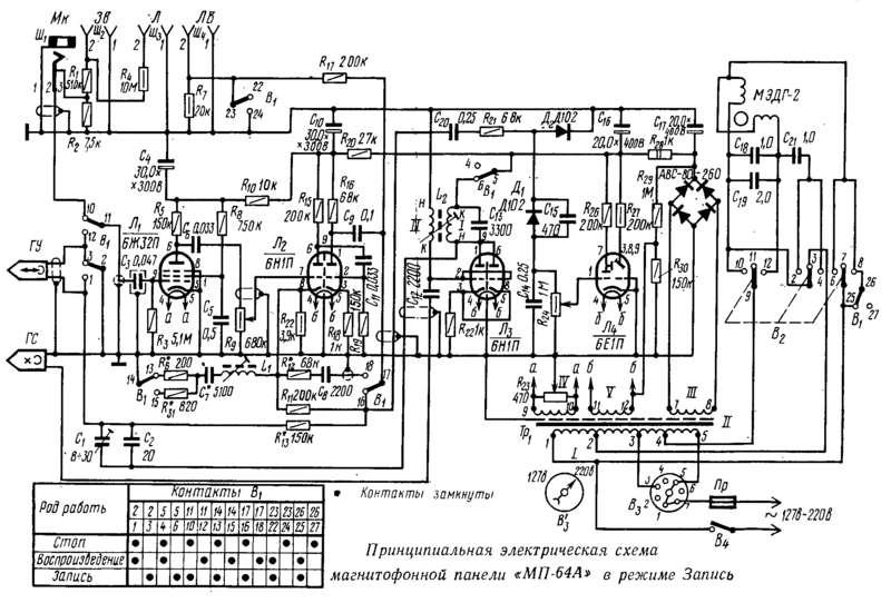 Схема магнитола фиалка