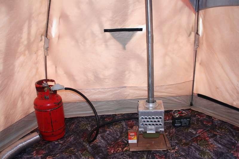 Печка для обогрева палатки своими руками
