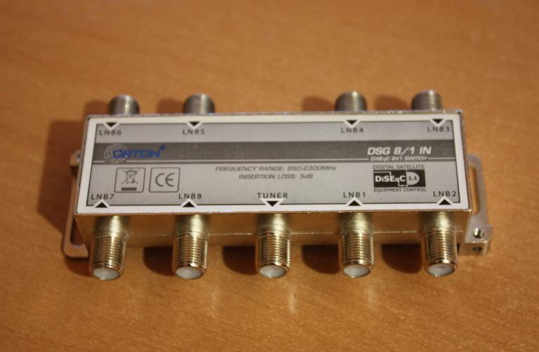 Сумматор switch 4x1 diseqc gi a-401, сумматор switch 4x1 diseqc gi a-401, соединители, кабель