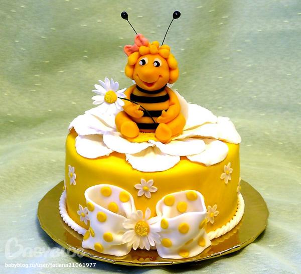 Торт пчелка детский фото