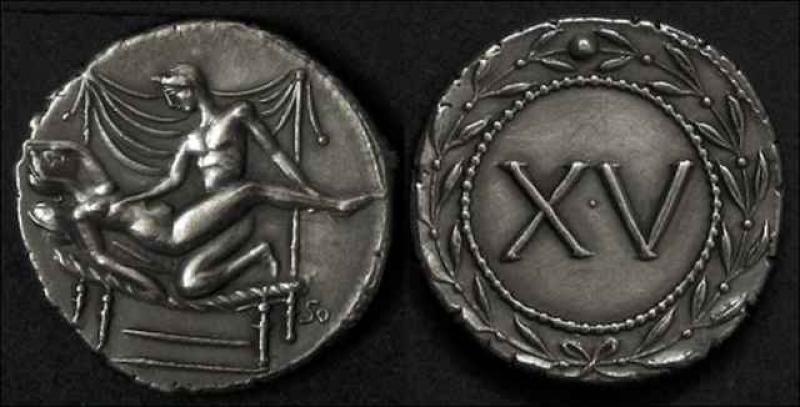 """Римские монеты с изображением сексуальных сцен (13 фото) """" н."""