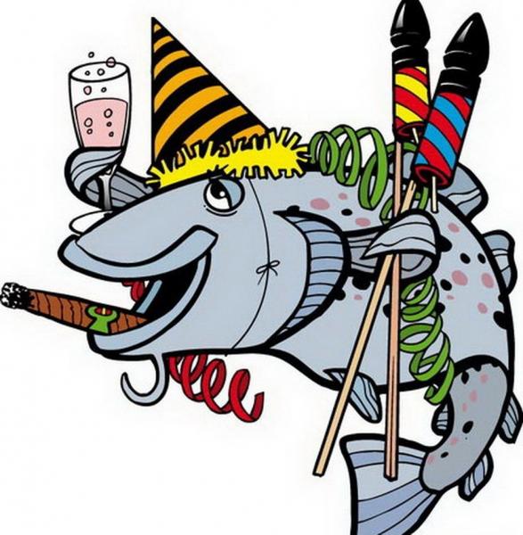 Поздравления рыбака с днем рождения картинки