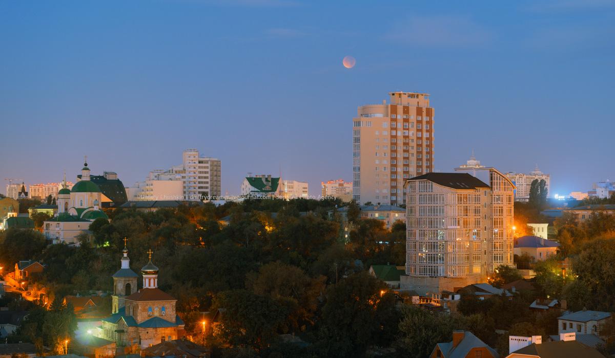 Лунное затмение над Воронежем