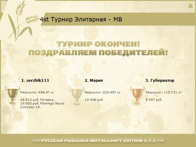 Максимальный Вес • Praise-турниры • РУССКАЯ РЫБАЛКА