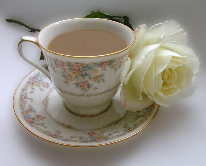 Открытка с добрым утром кофе и розы 172