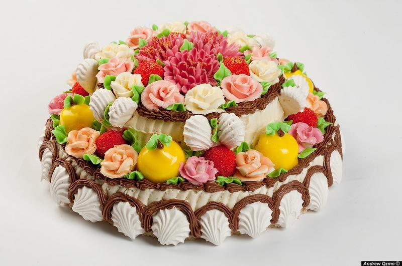 Открытка торта с днем рождения 55