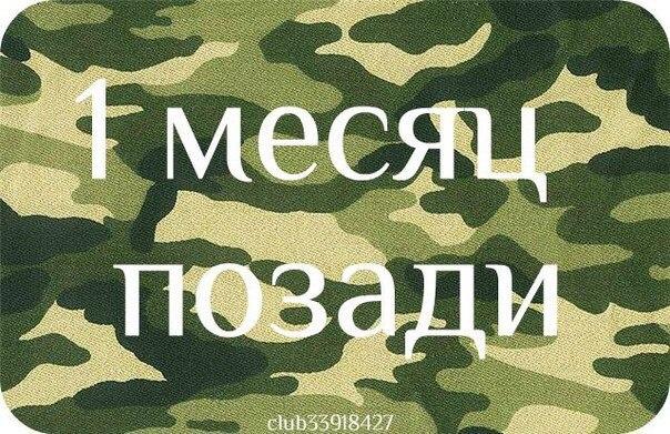 Поздравления с месяцами службы в армии