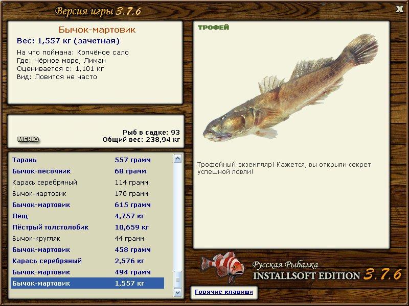 мартовик • Рыбы • РУССКАЯ РЫБАЛКА