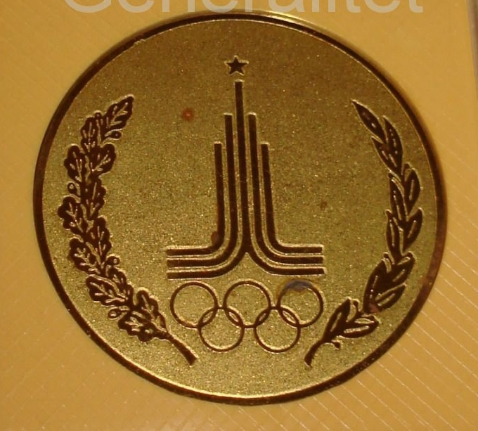 Настольные медали Олимпиада 80