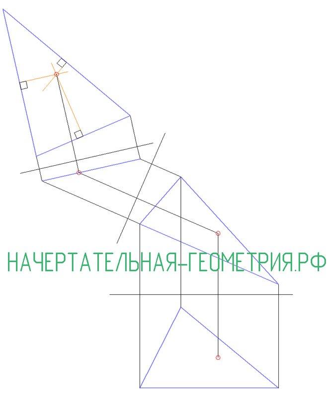 Найти точку, равноудаленную от вершин треуголньника