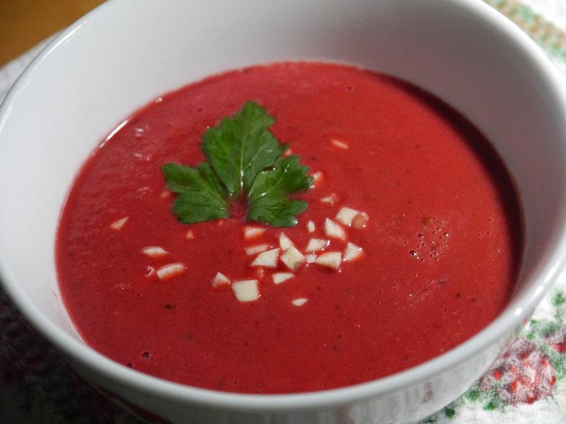 Крем-суп свекольный постный