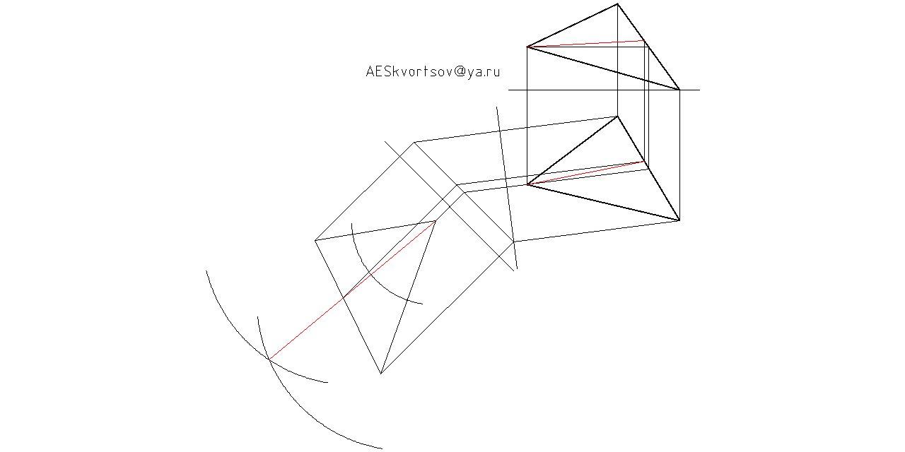 Начертательная геометрия, построение биссектрисы угла треугольника