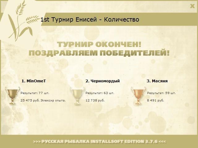 Эликсир • Praise-турниры • РУССКАЯ РЫБАЛКА