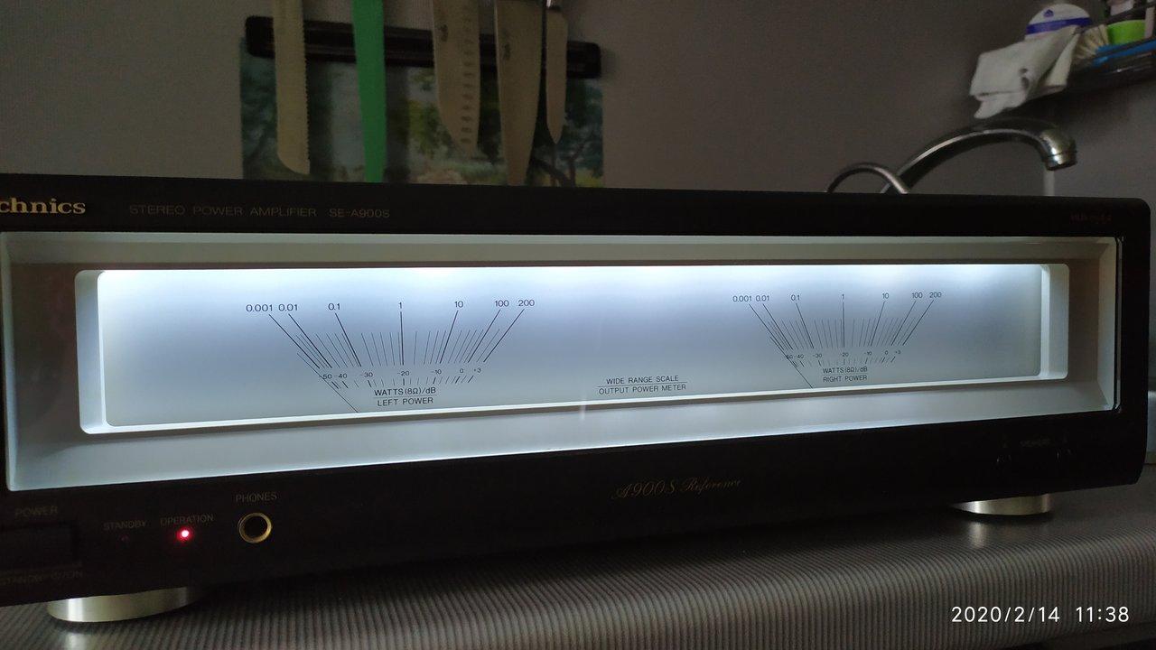 Усилитель Technics SE-A900S & SU-C800U стрелки