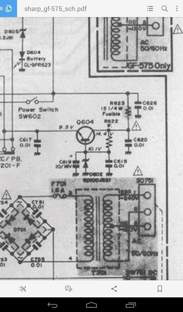 Toshiba TA7246AP в Sharp575Z